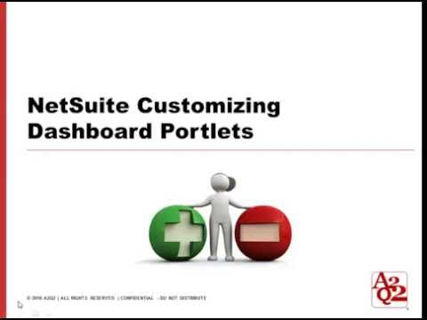 #65 | NetSuite Customizing Dashboard Portlet