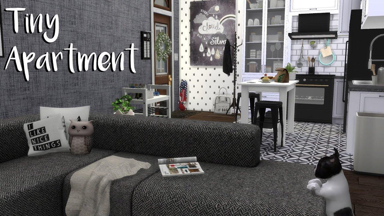 The Sims 4 Speed Build Tiny Apartment Cc List Youtube
