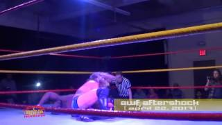 awf highlights mike camden wins the unleashed wrestling championship at aftershock