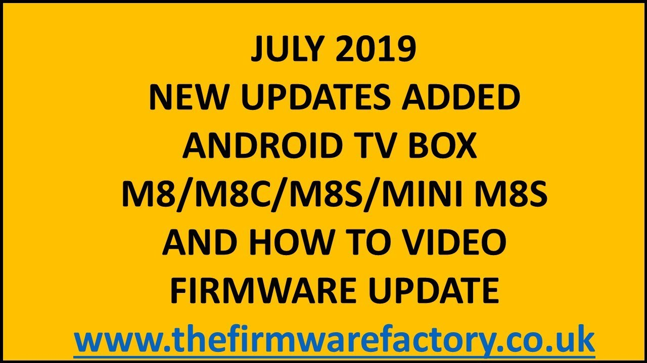 M8 M8S AND M8C/M8S MINI PLUS FIRMWARE UPDATE **DOWNLOAD FIRMWARE FROM THE  LINK BELOW FOR KODI 17 6