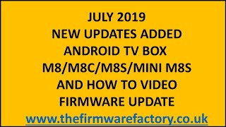 m8 m8s and m8c m8s mini plus firmware update download firmware from the link below oem