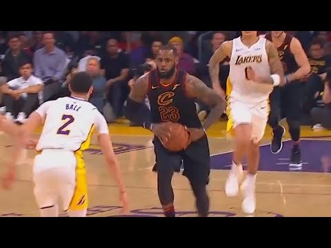 LeBron James Teaches Lonzo Ball How to Pass & Passes the Ball Between His Legs!