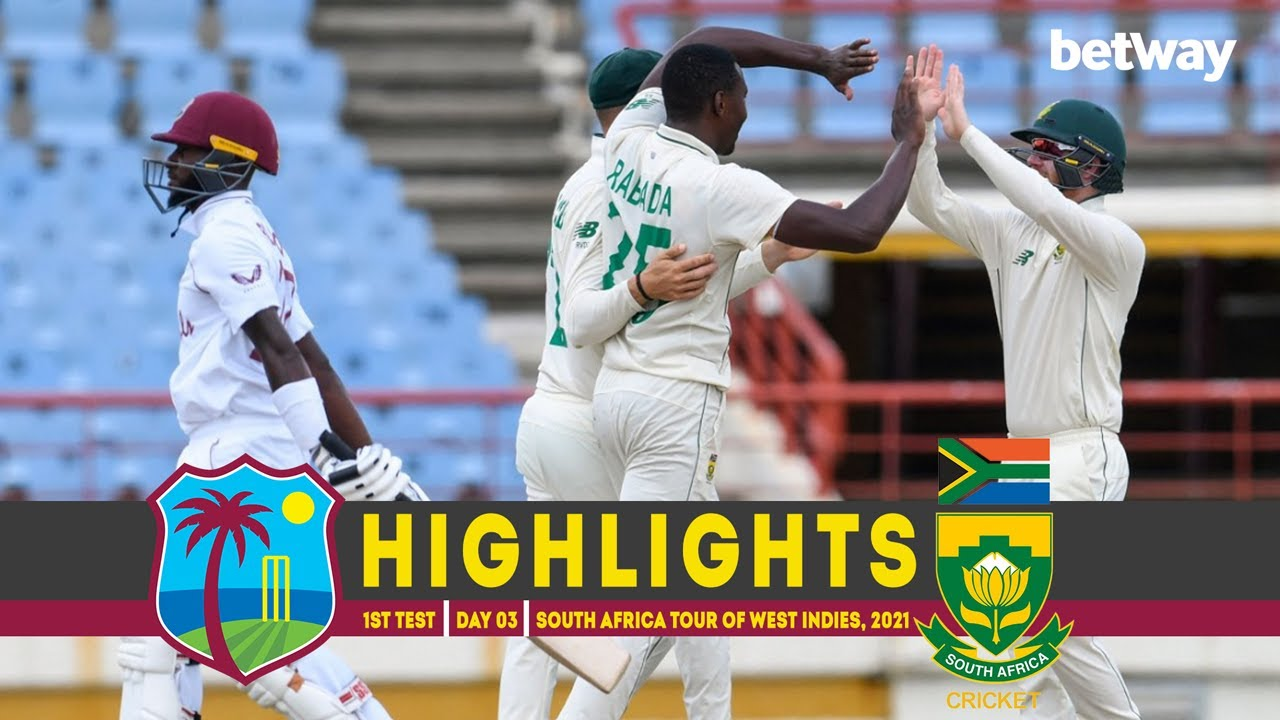 West Indies vs South Africa | 1st Test | Day 03 | South Africa tour of West Indies 2021