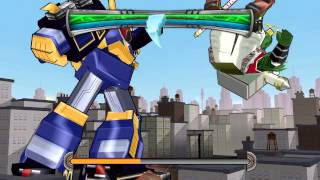 Power Rangers: Super Legends (PC) walkthrough - Ninja Storm - Megazord Battle