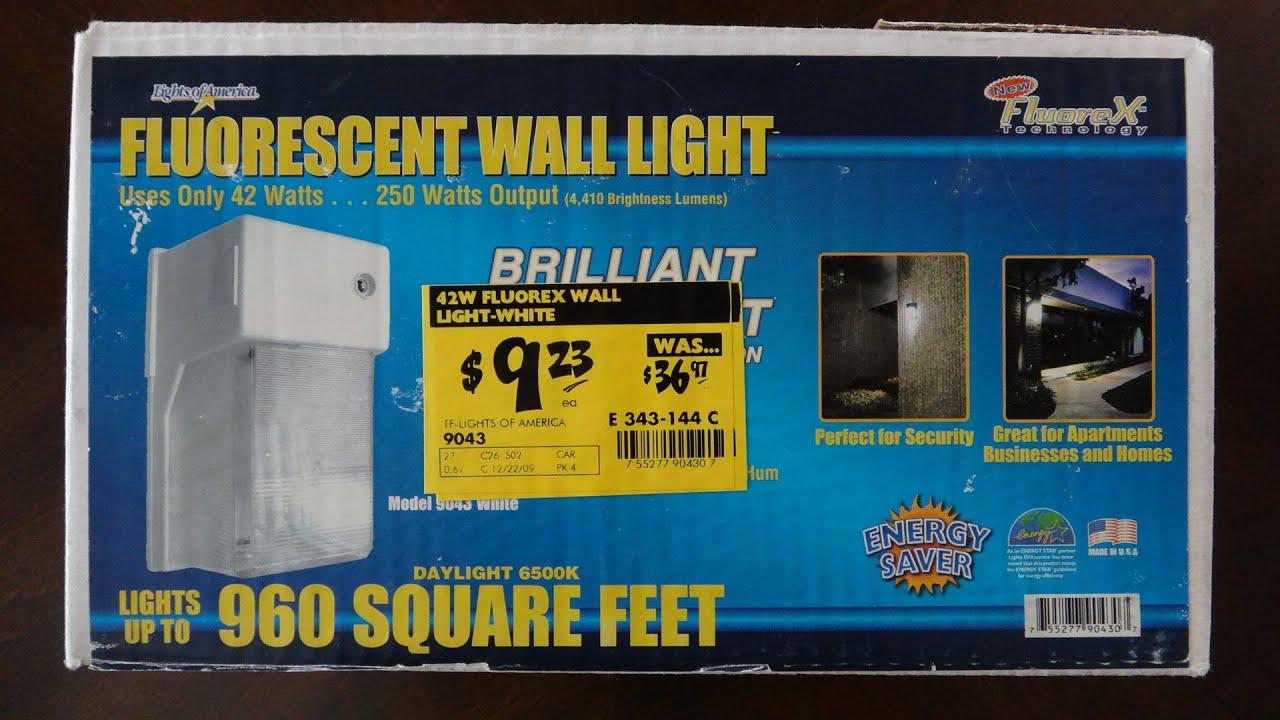 Lights Of America Fluorescent Wall Light (White)