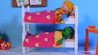Kids Sleeping In Bunk Beds ❤  Cartoons For Kids