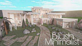 ROBLOX BLOXBURG: Mansion Modern Blush  House    House Build