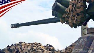 LAV-25歩兵戦闘車の25mmチェーンガン実弾射撃訓練