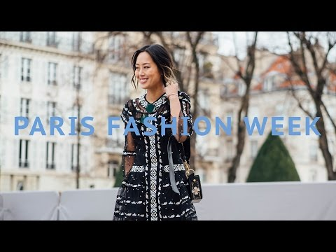 PARIS FASHION WEEK  Vlog and Outfits  Vlog#34  Aimee Song