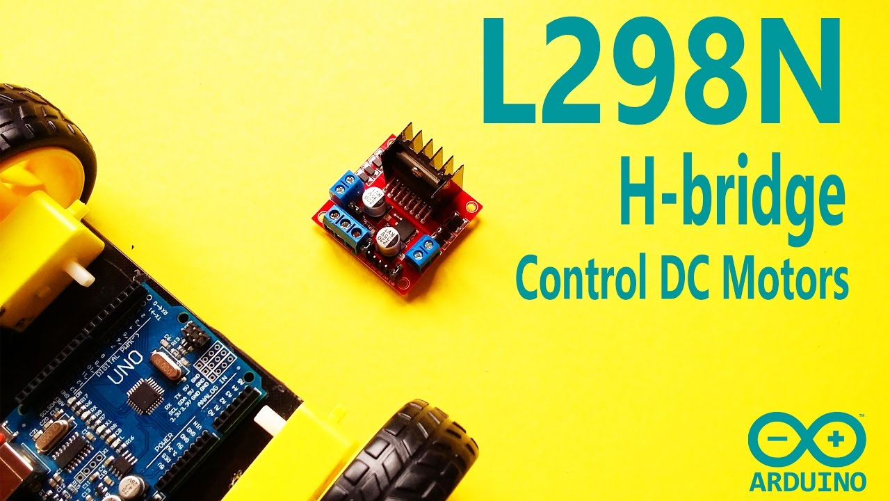 Arduino Motor Control and PWM Signal with L298N H-bridge Motor Driver