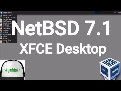 NetBSD 7.1 Installation + XFCE Desktop + Apps on Oracle VirtualBox [2017]