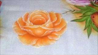 Aula de como pintar rosa na cor laranja