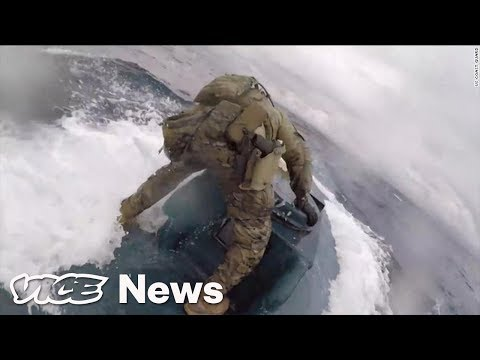 Maddox - Coast Guard Guy Surfs On A Narco-Sub Packed With Drugs!