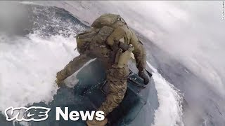 Coast Guard Dude Surfs a Narco-Sub Packed With Cocaine