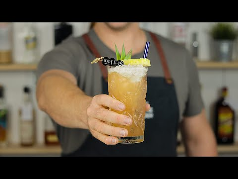 THREE DOTS AND A DASH - Classic Tiki Cocktail By Don The Beachcomber!