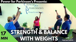 Strength & Balance w/Weights Short Sequence - Power for Parkinson's
