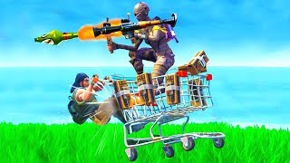 INSANE SHOPPING CART GLITCH! (Fortnite Battle Royale)
