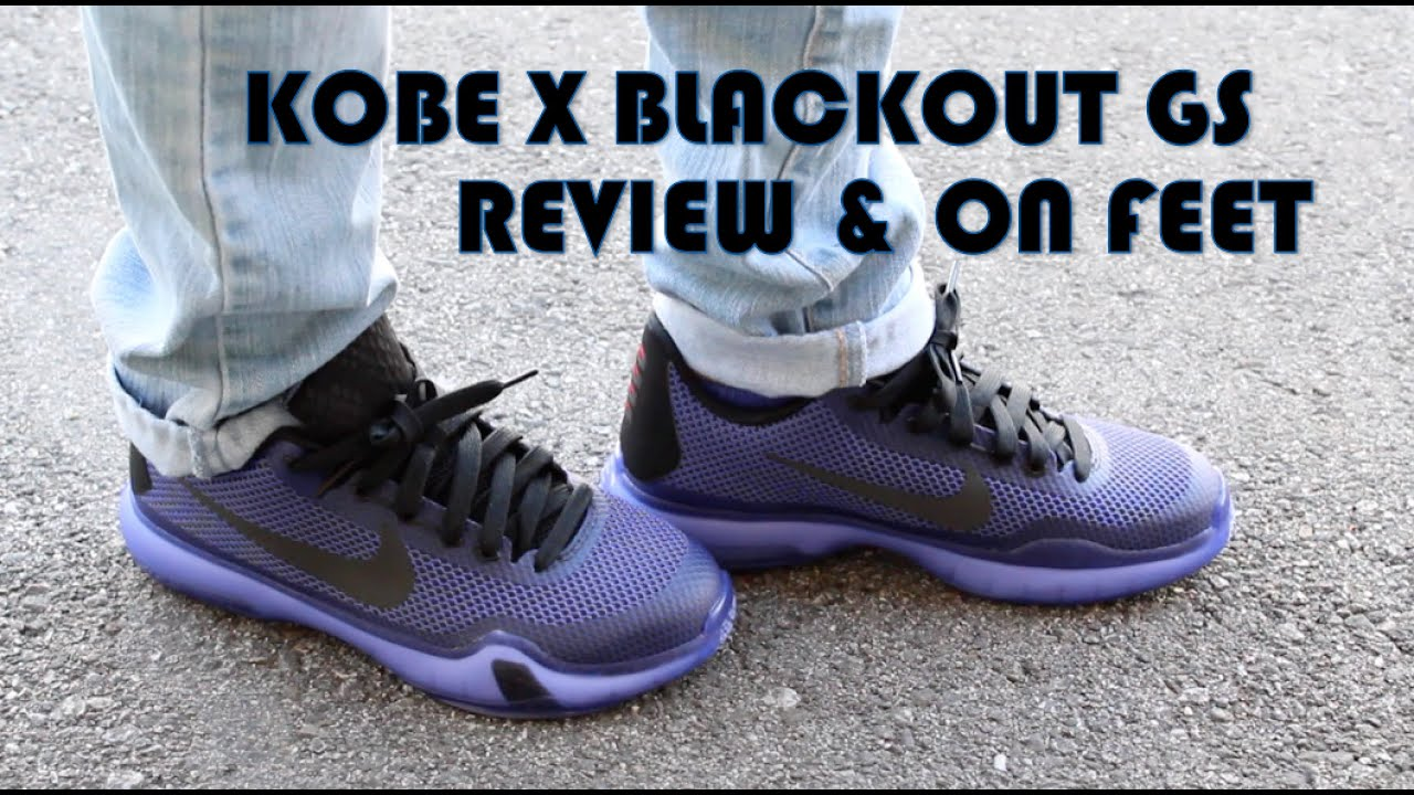 c93fb27bf467 Nike Kobe X Blackout GS Review   On Feet - YouTube