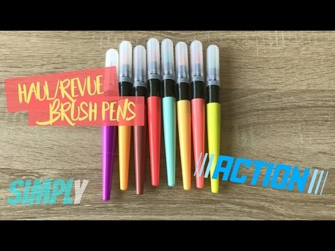 Test Brush Pens De Chez Action I Simply Youtube