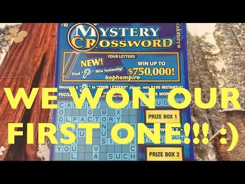 IT'S A CHRISTMAS MIRACLE! WINNING FIRST EVER Holiday Mystery Crossword California Lottery Scratchers