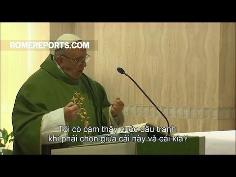 Đức Giáo Hoàng: Đời sống Kitô hữu là cuộc chiến hằng ngày chống lại cám dỗ