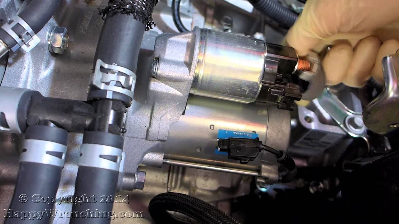 medium resolution of toyota camry starter replacement removal and installation 2 5l engine 2012 2014