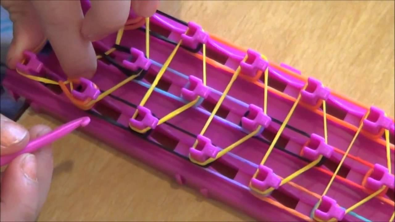 Cara Membuat Loom Bands Dan Rainbow Loom Memakai Braket