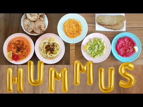 How to Make five �� Delicious colorful Meals of Hummus l the �� 5 meals for keep you healthy