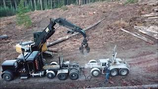 Logging 125 FOOT POLES on SWITCHBACK CORNERS!!! Clear and Level Logging and Lee Levanen Logging