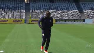 Usain Bolt joins first training session with Central Coast Mariners