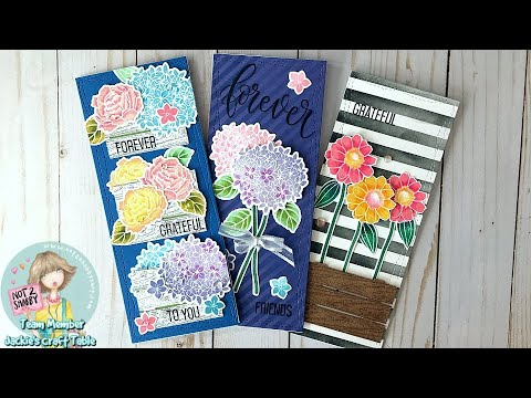 Trinity Stamps Slimline Cards | Not 2 Shabby Design Team Projects | April 2020