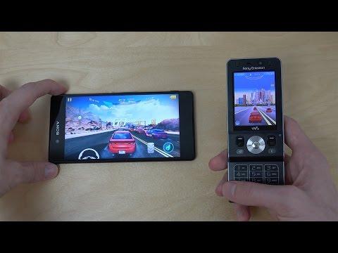Sony Xperia Z3+ vs. Sony Ericsson W910i - Asphalt Gameplay Comparison!
