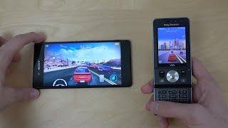 vuclip Sony Xperia Z3+ vs. Sony Ericsson W910i - Asphalt Gameplay Comparison!
