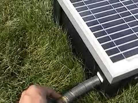 Amazing Solar Powered Water Pump System