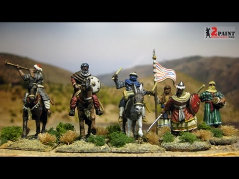 Almoravid Command Group Mounted And On Foot(Hat 1/72 Scale)