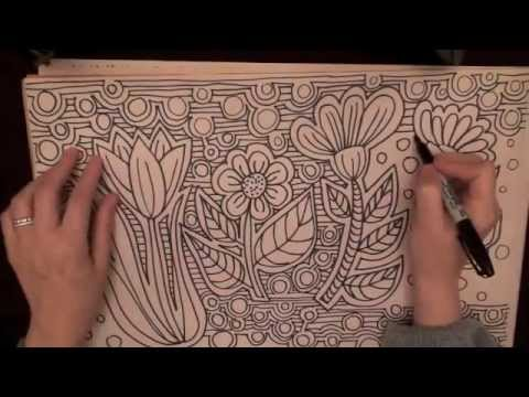 doodle flowers quality sound lots of tingles drawing