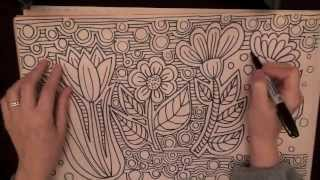 Doodle Flowers (Quality Sound, lots of tingles, Drawing, Crinkling, Cutting, Rubbing Sounds)