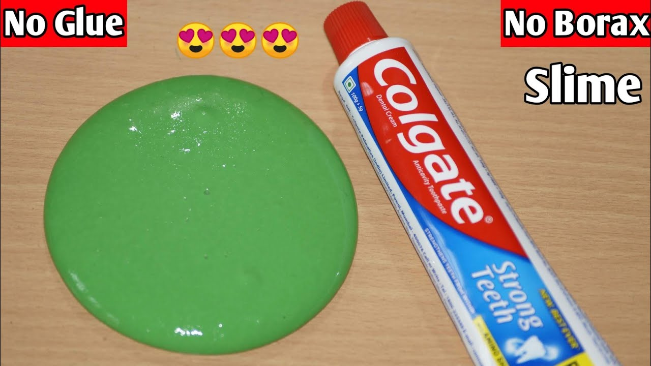 DIY Toothpaste no glue, no borax slime l How To Make Slime Without Glue Or Borax l How To Make Slime