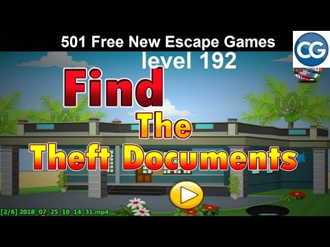 [Walkthrough] 501 Free New Escape Games level 192 - Find the theft documents - Complete Game