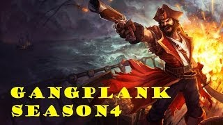 League of Legends - Season 4 - Gangplank Solo Top Gameplay HD