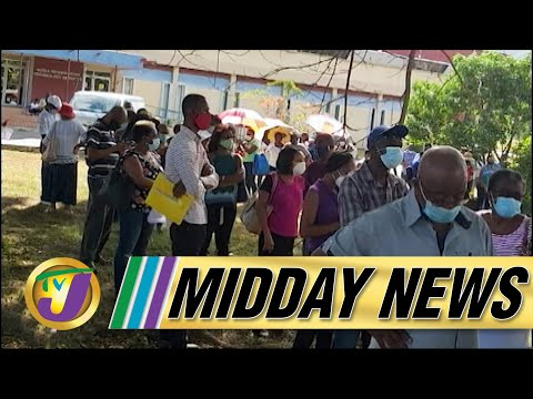 Long Lines & Angry Senior Citizens at Vaccination Site in Jamaica | TVJ Midday News - June 23 2021