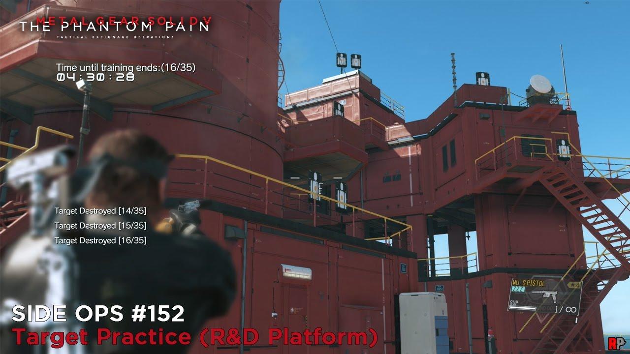 metal gear solid 5 the phantom pain side ops 152 target practice