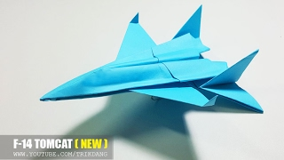 COOL PAPER JET FIGHTER - How to make a Paper Airplane Model | F-14 Tomcat (New Tutorial)