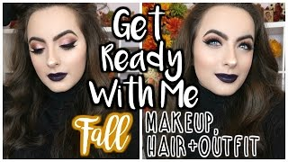 Get Ready With Me: Fall Makeup, Hair & Outfit