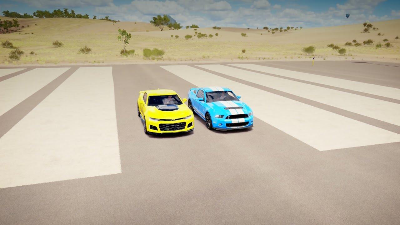 chevrolet camaro zl1 vs ford shelby gt500 drag race forza. Black Bedroom Furniture Sets. Home Design Ideas