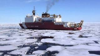 USCGC Healy breaking ice in the Canada Basin