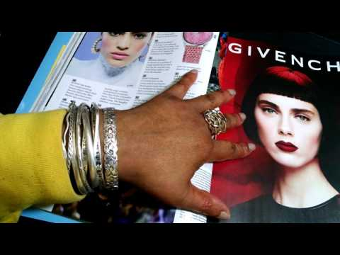 ASMR Elle Fall Magazine Flip 👓📗📚📕👓(whispering, gum & candy chewing, page turning)