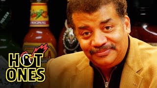 Download Neil deGrasse Tyson Explains the Universe While Eating Spicy Wings | Hot Ones Mp3 and Videos