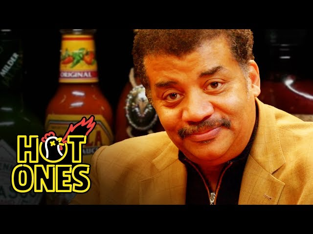 Neil deGrasse Tyson Explains the Universe While Eating Spicy Wings   Hot Ones