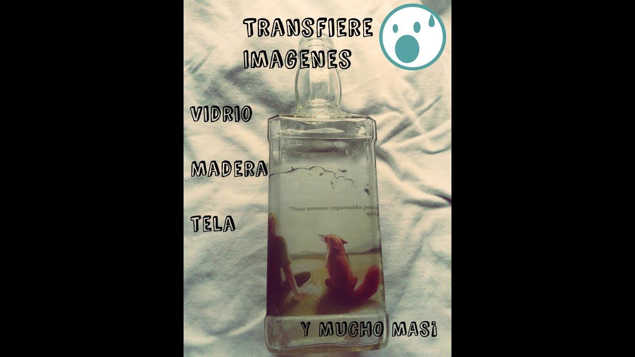 Transferencia de im genes en vidrio madera tela y mucho - Donde comprar pintura para tela ...